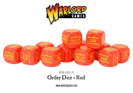 Bolt Action - Order Dice - Red (12)
