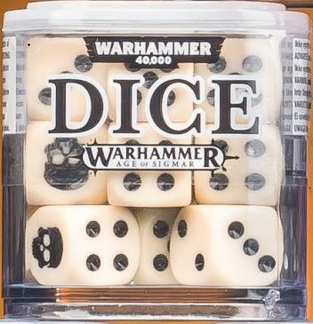 Citadel 12mm Dice Set - Kremowe